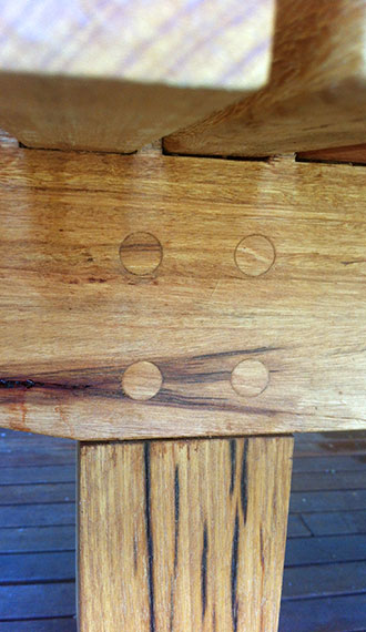 Timber join detail